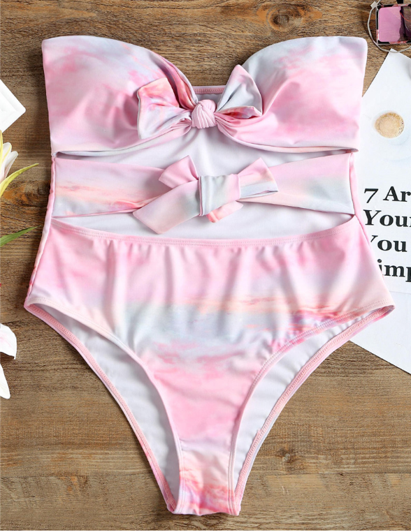 Sexy pink hollow out swimear bath suit bikinis