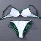 Fashion green black stripe chest cr..